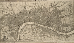 A Correct PLAN of the CITIES of LONDON & WESTMINSTER & BOROUGH of SOUTHWARK, including the BILLS of MORTALITY, with the ADDITIONAL BUILDINGS 118